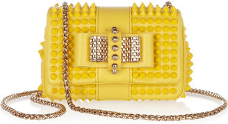 Christian Louboutin Sweet Charity mini spiked leather shoulder bag