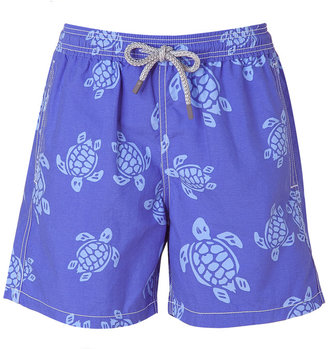 Vilebrequin Steel Blue Turtle Print Boys Swim Trunks