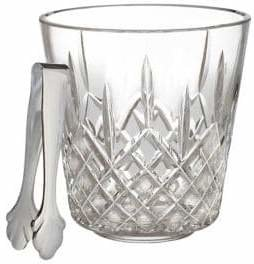 Waterford Wedgwood Lismore Ice Bucket With Tongs