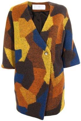 Thakoon Printed Cocoon Coat