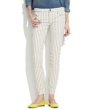 Madewell Skinny Skinny Ankle Jeans in Twin Stripe