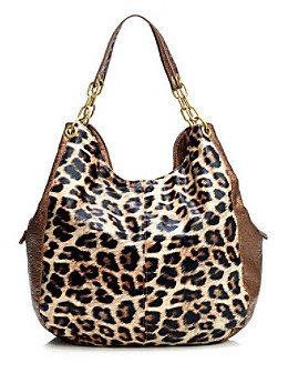 GAL Luggage/Beige/Leopard/Bronze Contrast Pebble Chain Shopper