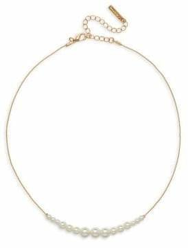 Cezanne Frontal Short Faux Pearl Necklace