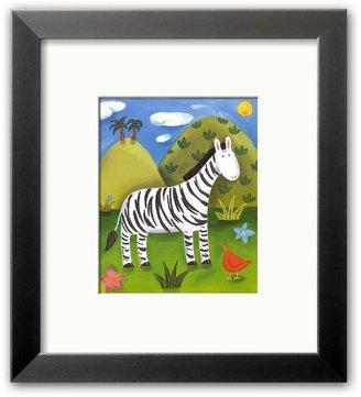 """Art.com Zara the Zebra"""" Framed Art Print by Sophie Harding"""