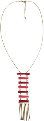 Arden B Tiered Pendant & Fringe Long Necklace
