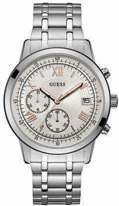 GUESS Chronograph Roman Stainless Steel Bracelet Watch