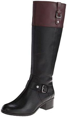 Bandolino Women's Cranne Wide Calf Leather Riding Boot $149 thestylecure.com