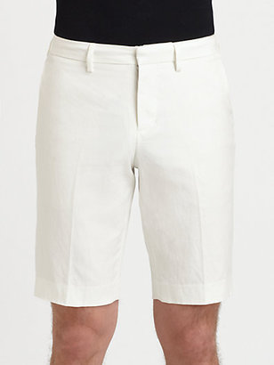 Vince Cotton & Linen Trouser Shorts
