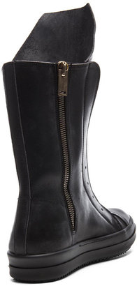 Rick Owens Ramones Leather Boots in Black