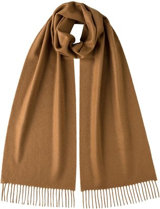 Johnstons of Elgin Dark Camel Classic Cashmere Scarf