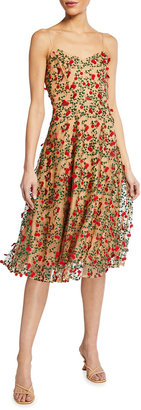 Dress the Population Janice 3D Embroidered Fit-&-Flare Dress