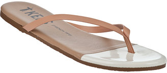 TKEES French Tips Flip Flop Black Patent