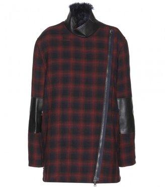 3.1 Phillip Lim Shearling-trimmed wool-blend jacket