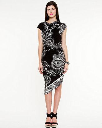 Le Château Paisley Print Scoop Neck Dress