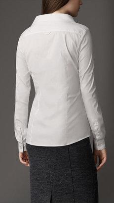 Burberry Dropped Collar Cotton Shirt
