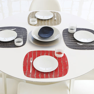 Chilewich Mod Croc Placemat Red Set Of 2