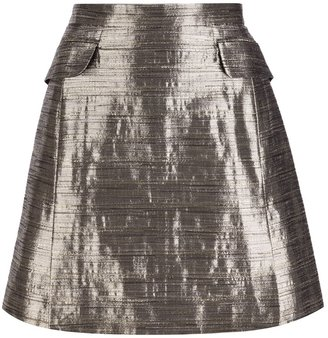 McQ by Alexander McQueen metallic mini skirt
