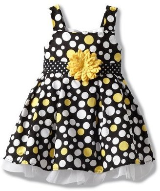 Little Lass Baby-girls Infant 1 Piece Dress with Dots