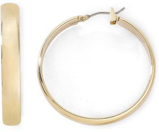 MONET JEWELRY Monet Gold-Tone Medium Hoop Earrings $18 thestylecure.com