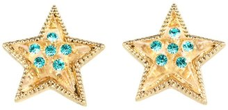 Betsey Johnson Heaven's To Betsey Lucite Star Stud Earrings (Yellow) - Jewelry