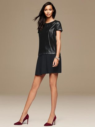 Banana Republic Perforated Faux-Leather Top