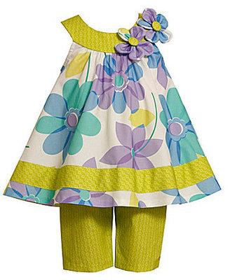 Bonnie Baby Infant Tropical Dress & Pants Set