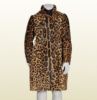 Gucci Jaguar Printed Leather Trench Coat