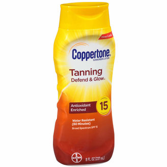Coppertone Tanning Lotion Sunscreen, SPF 15
