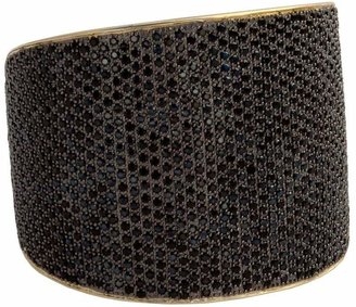 Tom Binns 24kt gold plated bejewelled statement cuff