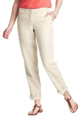 LOFT Tall Marisa Linen Cotton Cropped Weekender Chinos
