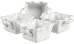 Bia Cordon Blue Cordon Bleu 5 oz. Wavy Square Ramekin - Set of 4