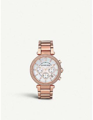 Michael Kors MK5491 Parker rose gold-plated watch