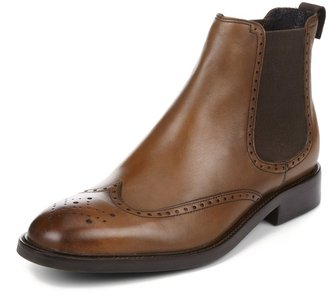 Marks and Spencer Sartorial Leather Ankle High Chelsea Brogue Boots