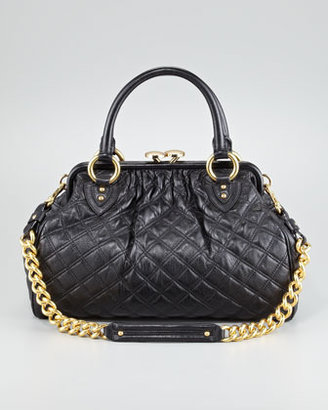 Marc Jacobs Stam Quilted Leather Satchel Bag