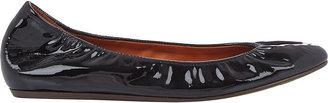 Lanvin Women's Patent Ballet Flats-BLACK $495 thestylecure.com