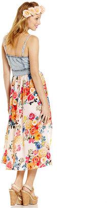 Stitch Clothing Juniors Dress, Sleeveless Denim High-Low