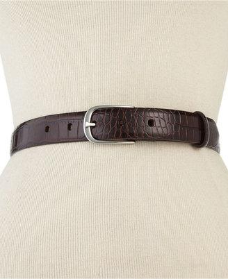 Lauren Ralph Lauren Belt, Croc with Endbar