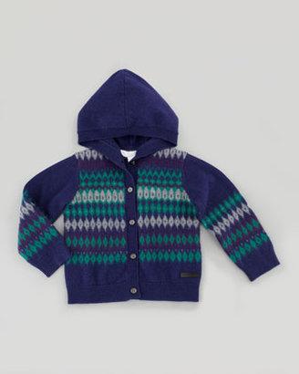 Burberry Infant Boys' Fair Isle Knit Cardigan, 18M - 4Y