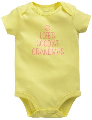 "Carter's life's good at grandma's"" bodysuit - baby"