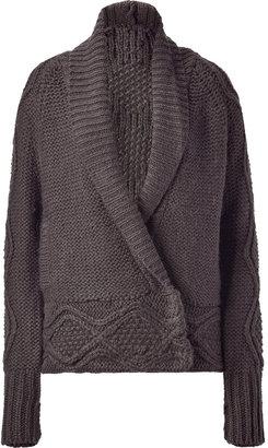 Paul & Joe Mink Brown Knit Loose Cardigan