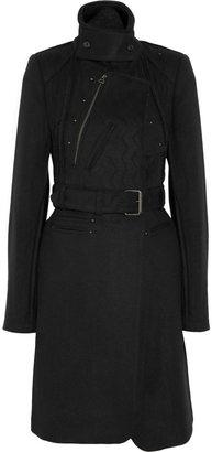 Edun Textured wool-blend trench coat