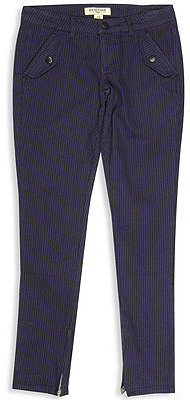 Forever 21 H81 Zip Ankle Striped Skinny Pant