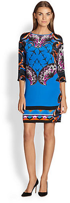 Etro Mixed-Graphic Silk Tunic