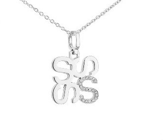 India Hicks Love Letters in Silver with Diamonds - S - Oprah's Favorite Things