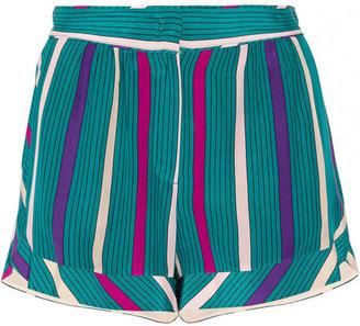See by Chloe Printed silk crepe de chine shorts