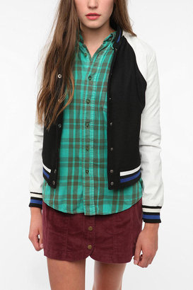Urban Outfitters byCORPUS Colorblock Varsity Jacket