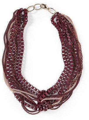 Pim + Larkin Maroon Twisted Chain Necklace