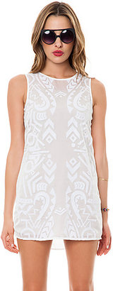 Finders Keepers The Lost for Words Singlet Dress in Ivory