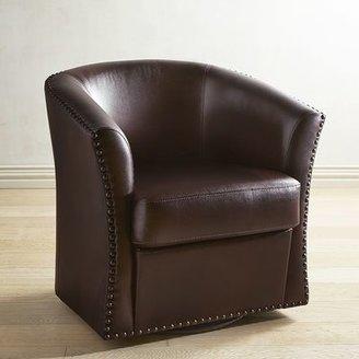 Wells Brown Swivel Chair