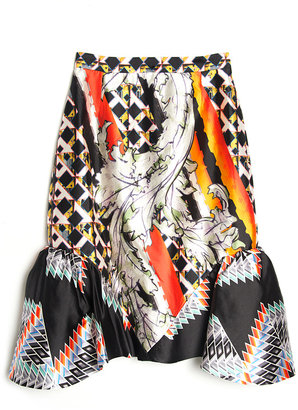 Peter Pilotto Lauren Ruffle Hem Skirt